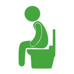 persoon op het toilet